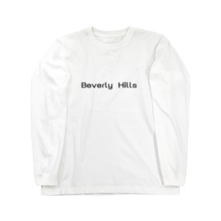 Beverly Hills ロゴ Long sleeve T-shirts