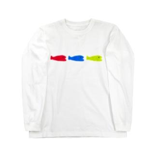 小魚 × 3 + おめかし Long sleeve T-shirts