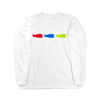 小魚 × 3 + おめかし Long sleeve T-shirts