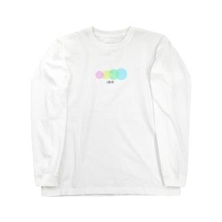 カラフルドット Long sleeve T-shirts