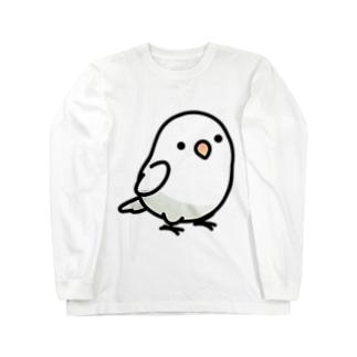 Chubby Bird ボタンインコ Long sleeve T-shirts