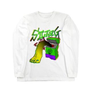 CIGARETTE MONSTER Long sleeve T-shirts