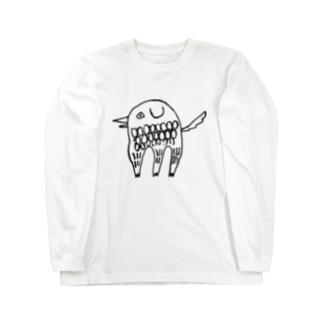 アマビエ いっぬ Long sleeve T-shirts