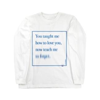 ポエティック・グラフィック_[涙滴]_メッセージ Long sleeve T-shirts