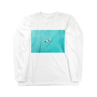【全額寄付】 浮いている人 Long sleeve T-shirts