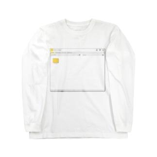 架空のOSのウインドウ・フォルダー画面 Long sleeve T-shirts