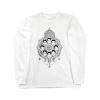 ヤマト総会公式のヤマト総会-曼荼羅- Tシャツ Long sleeve T-shirts