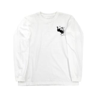 シンプルが好き。の白鳥と見せかけて。(small image ver.) Long sleeve T-shirts