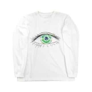 nyahoのおめめ Long sleeve T-shirts