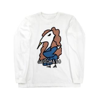 ダイナマイト87ねこ大商会のゲロマブ鶴スケバン Long sleeve T-shirts