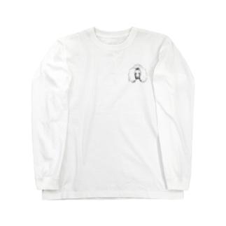 𝐏𝐨𝐨𝐝𝐥𝐞ちゃん🐩 ロンT(白) Long sleeve T-shirts
