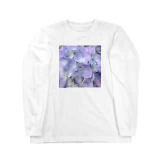 johnny's martの紫陽花 Long sleeve T-shirts