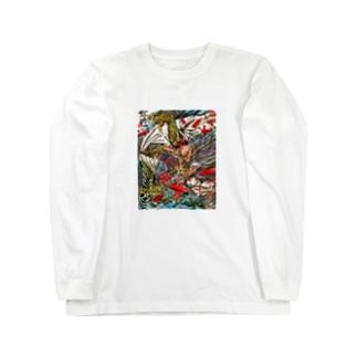 ガゴゼ(元興寺の鬼退治) Long sleeve T-shirts