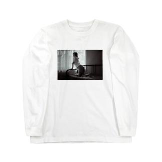 モノクロケツダシニコ Long sleeve T-shirts
