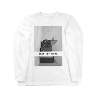 STAY (C)AT HOME Long sleeve T-shirts