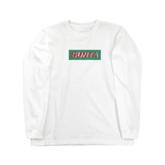 Yotaの「SUNTA」メインロゴ Long sleeve T-shirts