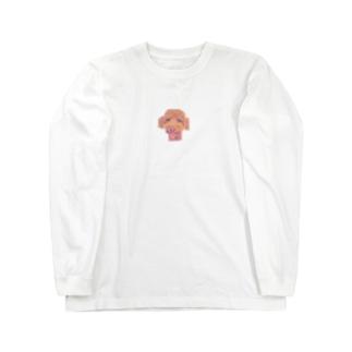 海老太郎のトイプードルスマイル Long sleeve T-shirts
