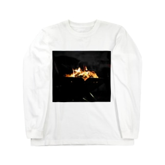 焚き火 Long sleeve T-shirts