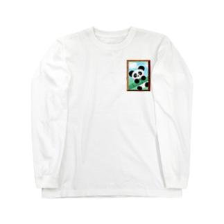 額縁ぱんだ Long sleeve T-shirts