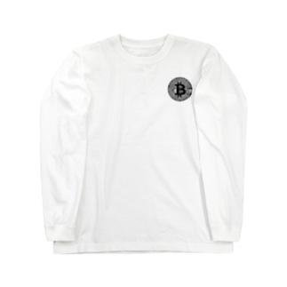 カマラオンテの黒 ビットコイン 仮想通貨 bitcoin B Long sleeve T-shirts