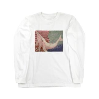導き(赤くじら) Long sleeve T-shirts