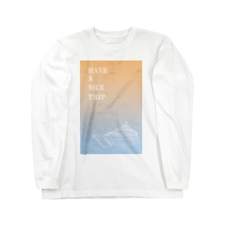 sakura-filmsのHAVE A NICE TRIP FERRY Long sleeve T-shirts