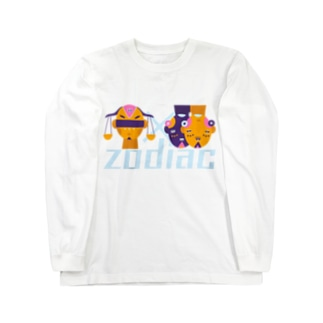 SANKAKU DESIGN STOREの相性の良い二人。 てんびん座×ふたご座/星座 Long sleeve T-shirts