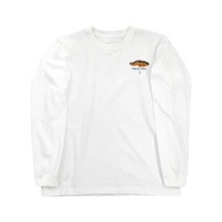 鮭+ロゴ Long sleeve T-shirts