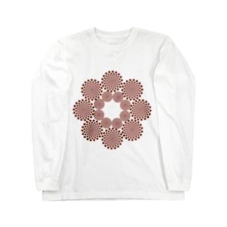 KAERUCAFE SHOPの錯視 Long sleeve T-shirts