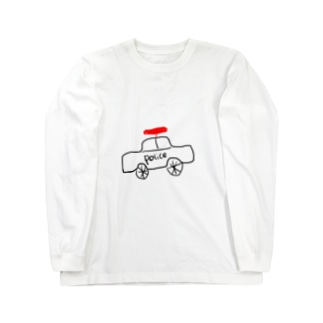 タケコプター付きパトカー Long sleeve T-shirts