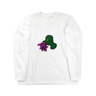 SHIBU屋 〜竹馬ロメ〜のウニョウニョ Long sleeve T-shirts
