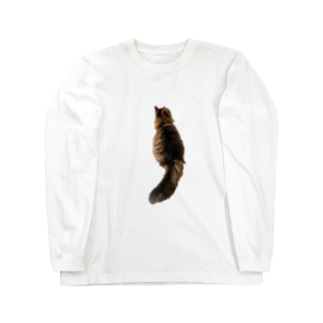 grayish black houseのlonely cat Long sleeve T-shirts
