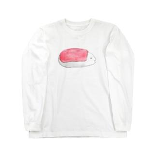 おすしろ まぐろ Long sleeve T-shirts