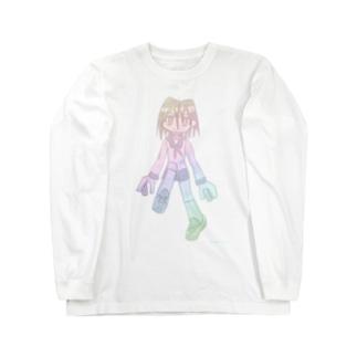 サワヤナギの虹森輝ちゃん虹色 Long sleeve T-shirts