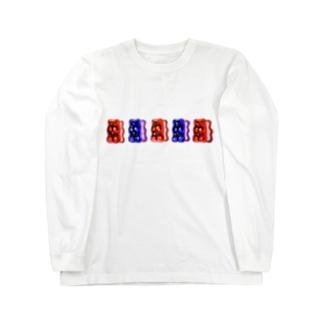 整列するハリボー 木原幸志郎 Long sleeve T-shirts