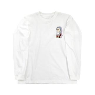 アマビエにしきごい(ワンポイント) Long sleeve T-shirts