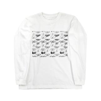KAERUCAFE SHOPの蝶 Long sleeve T-shirts