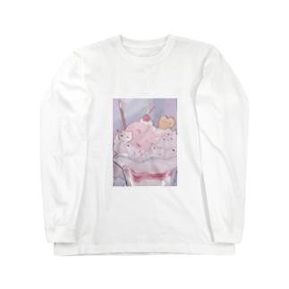 a s a k a r a_c a k eのハム・パフェ Long sleeve T-shirts
