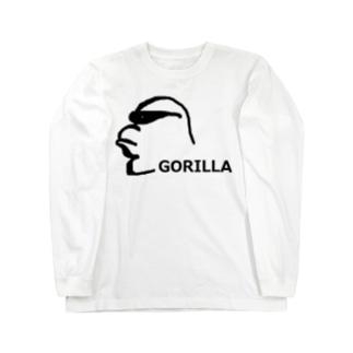 アメリカンベースのサングラスゴリラ  Long sleeve T-shirts