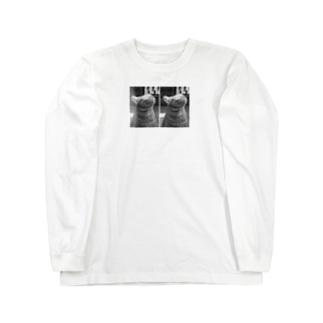 ciiiiiiのそよ風を受けるちょび Long sleeve T-shirts