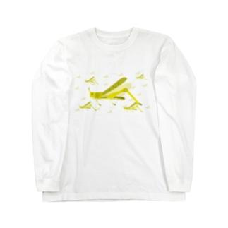 サバクトビバッタ 群生相 群体・蝗害 Long sleeve T-shirts