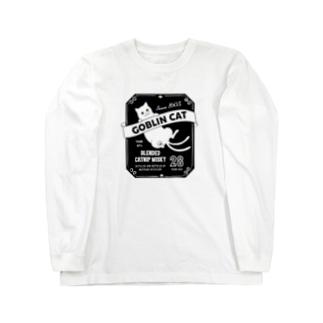 化け猫ウヰスキー Long sleeve T-shirts