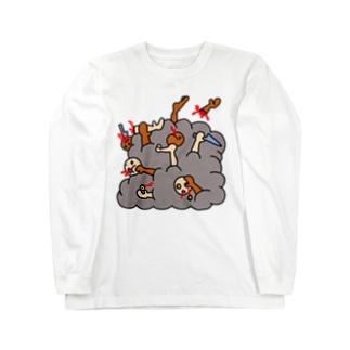 Massive Muscle Mafiaの大乱闘 Long sleeve T-shirts