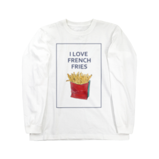 NATSUYA TAKASAKIのI LOVE FRENCH FRIES Long sleeve T-shirts