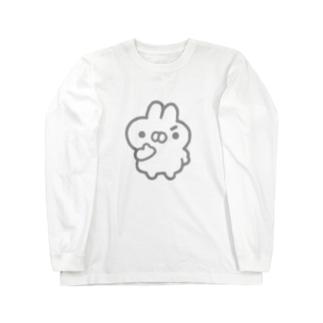 もくろむうさぎ Long sleeve T-shirts