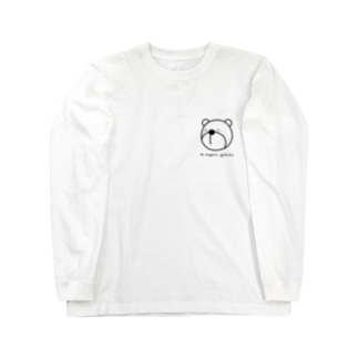 クマ君(黒線) Long sleeve T-shirts