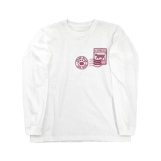 猫エアメール Long sleeve T-shirts