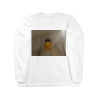 6_2_6_2のバチバチのアヒル Long sleeve T-shirts