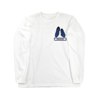 ペアTシャツ屋のシバヤさんのペア(GROOM)シューズ_ブルー Long sleeve T-shirts