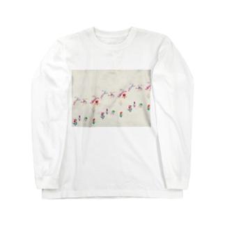 KAERUCAFE SHOPのうさぎ Long sleeve T-shirts